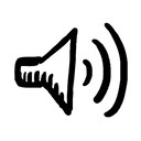 Hand-drawn image of a sound icon