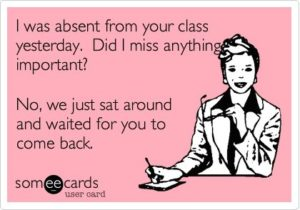 I was absent yesterday....