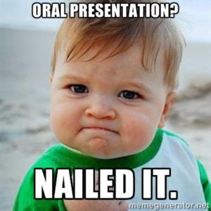 Baby, with caption, Oral Presentation? Nailed it.